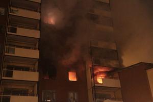 Räddningstjänsten har larmats till en brand på Norra Fiskargatan i Gävle.