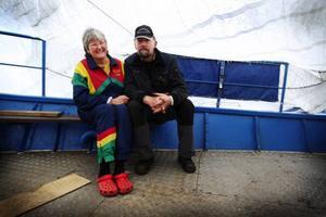 Margareta Byström och Stig Eriksson i föreningen Vattudalens kulturbåtar hoppas att allt fler upptäcker tjusningen med en båttur längs Ströms Vattudal i sommar.