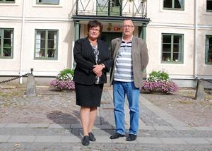 Intresseföreningen Bergslagets ordförande Inga-Britta Kronnäs och Gunnar Linzie, anställd på föreningen, besökte på torsdagen Hedemora tillsammans med övriga styrelsen.