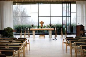 Störst. Mäster Olofs kapell är ett av tre kapell på krematoriet.