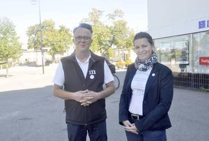 Lars-Göran Birkehorn Karlsen och Martia Obminska lanserade under torsdagen Moderaternas företagarråd i Tierps kommun
