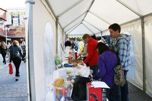 VISNING. I ett tält i Krysset visades varorna på lördagens auktion upp innan de ropades ut.