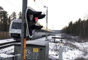 Tidigare har det skett sabotage vid Solbackavägens plankorsning.