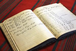 Morfar Erik Jonsson den äldre i Runemo förde flitigt dagbok. Här finns bland annat noteringar om den kalla krigsvintern 1940, då det var 30 grader kallt den 16 mars.