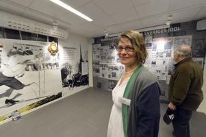 Fia Bladh är en av många som varit med och skapat utställningen om Sixten Jernberg.