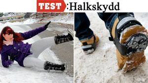 Broddar under skorna är en enkel åtgärd för att slippa stå på ända i halkan.