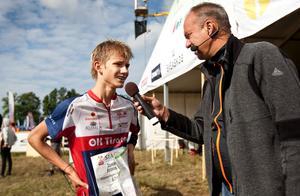 Jonatan Aronsson, Tisaren, slutade totalt nia i H18 elit i årets O-ringen.