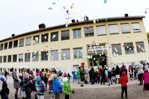 Sätra skola i Sandviken, under skolans 70-års jubileum.