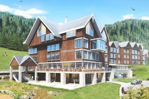 Så ska det planerade hotellet se ut om bolaget får dispens för att sätta i gång med projektet.