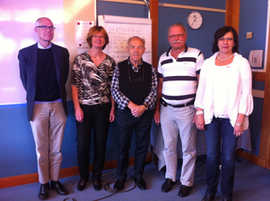 Interimstyrelsen för Borgerligt alternativ: Björn Fröstad, Ann-Britt Åsebol, Lars Apelqvist, Anders Bringborn och Birgitta Ihlis.