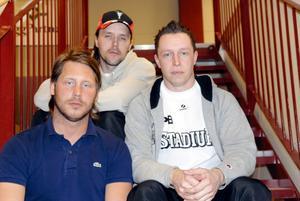 Tränartrion. Kimmy Dalbjer, Thomas Brottman och Patrik Bäck kommer att basa över IBF-herrarna den kommande säsongen.