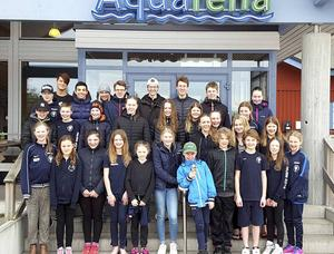 Hela gänget från Gävle SS som tävlade i Söderhamn och Aquarena Race.