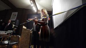 Prinssessan Madeleine var på plats i Hassela och klippte invigningsbandet för jubileumsveckan för Hasselakollektivet.
