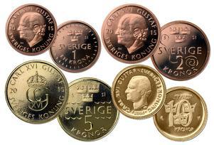 Så här ser de nya mynten ut.
