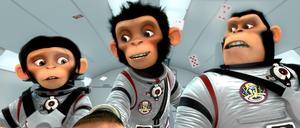 """Suck. """"Space chimps"""" handlar om tre apor som hjälper människorna att återföra en borttappad raket från andra sidan universum."""