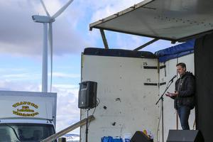 Energimyndighetens generaldirektör, Erik Brandsma, ansåg att Glötesvålen är det perfekta exemplet på en vindkraftpark.