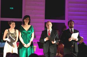 Kamila Benhamza, Pers Anna Larsson, Göran Eliasson och Kosma Ranuer var sångsolister i konserterna i Vattnäs på söndagen.