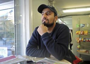Tarek Malak, hoppas på en vitamininjektion i Norra Backa handelsområde.