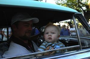 Neo. Det här var Neos första cruising där bilarna glider fram och man får titta ut på publiken. Foto:Berndt Norberg