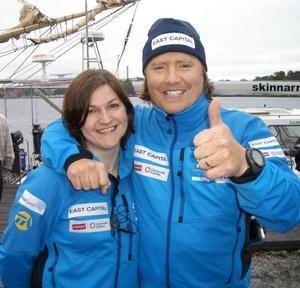 Ett äventyrsteam som fungerat. Linnéa Grahn och Ola Skinnarmo på bilden inför starten av resan genom Nordostpassagen.