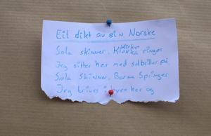 Annfrid Hopshaugs dotter Sofie Hopshaug Bakke har skrivit den här dikten om nuet och semestern i Sundsvall.