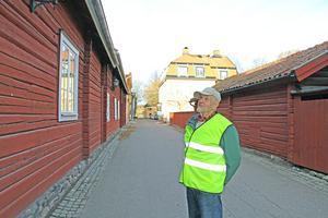 Säters stadskärna byggdes på 1600-talet och är till stora delar bevarade. Det tycker Stig Eklöf  att resenärer borde få information om när de närmar sig staden.