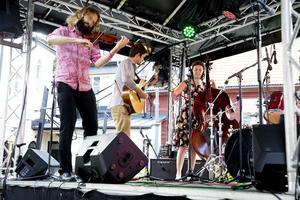 The String Continent med medlemmar från Australien och Skottland på Stallbacken 2015. Arkivbild: Daniel Patiño Flor