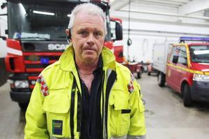 Yttre befäl Karl-Erik Persson ledde släckningsarbetet.