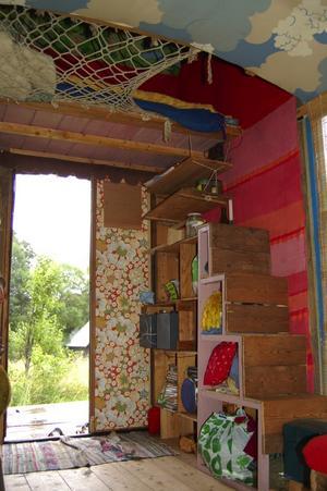 Compact living. Loftet i det märkliga huset. Foto:Karolina Lundgren