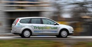 Motorn i Ford Focus trippelfuel är en 1,8 liters flexifuel som konverterats till gasdrift.