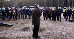 Magnus Jonsson höll tal.