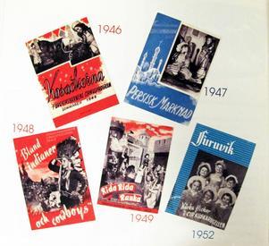Värda att satsa på. Barnen i Furuviksbarnen fick alldeles egna programblad, här några genom åren.