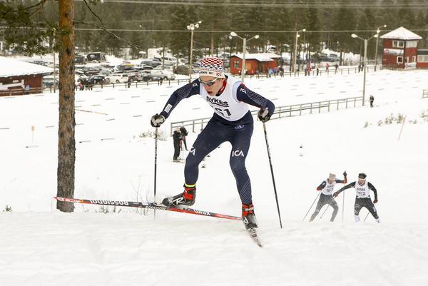Redan efter första varvet hade Jesper Persson från Sveg en betryggande ledning och det blev ännu en seger till  Åsarna som han tävlar för.