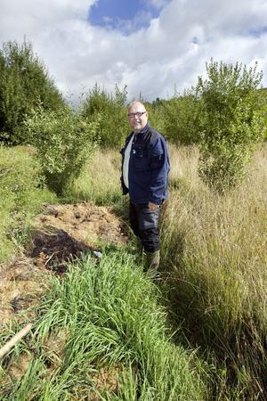 Tistlar och flugor, Vid Vedbobacken finns en stor illegal soptipp som bekymrar miljö- och hälsoskyddsinspektören Svante Larsson och hans kollegor. Marken blir övergödd, lockar till sig flugor och är ett paradis för snabbväxande tistlar.Foto: Rune Jensen