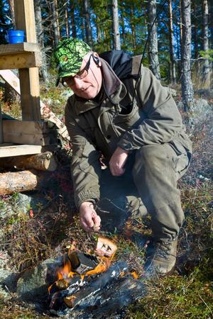 Jan Åström är jaktledare för ett jaktlag i Valbo.
