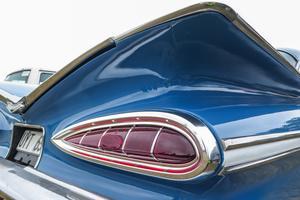 Högerfenan på Anders Olsson Chevrolet Impala från 1959.