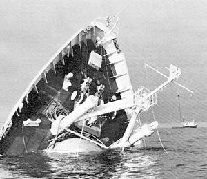 Mundogas sjönk utanför Öregrund 1966.