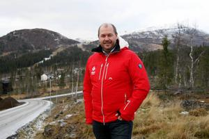 Niklas Carlsson med Åreskutan i bakgrunden där VM avgörs 2019. VM-generalen ser både alpina VM och skidskyttet i Östersund som hävstänger för ökad regional tillväxt i Jämtland.