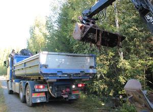 Cirka ett ton avfall kunde tas bort.