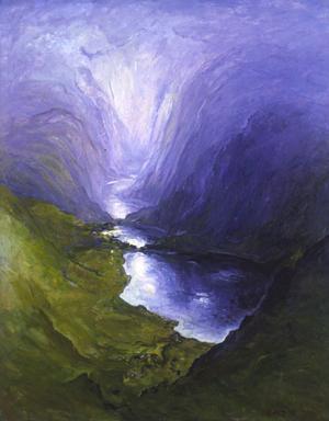 Trolldalen III, oljemålning 1990.