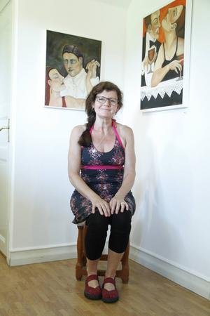 Att måla är för Ulrika Krohn Örn ett sätt att varva ner efter jobbet.