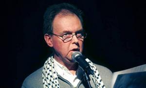 Peter Rosenberg. Representerade svenk-palestinska föreningen  i Gävle.