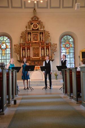 Lusciniakvartetten består av fyra musiker från Kungliga Musikhögskolan i Stockholm.