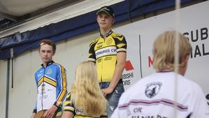 Norbergscyklisten Johannes Lundberg, klassvinnare i Engelbrektsturen.