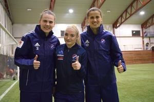 Melisa Hasanbegovic, Lara Ivanusa och Armisa Kuc är nya i Kvarnsvedens IK.