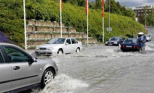 Sannolikheten för extrema skyfall ökar. Ett riktigt intensivt regn över en tätort som Östersund skulle kunna bli förödande.
