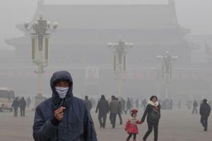 Peking är hårt drabbat - men är ändå inte världens mest förorenade stad.
