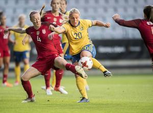 Damerna får bara en bråkdel av vad männen tjänar när de deltar i VM. /FOTO: Björn Larsson Rosvall/TT