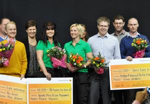 Per Norén, Lena Magnusson, Jeanette Melin, Andreas Hallberg och Per-Erik Eriksson. Foto: Fredrik Dahlin, Hälsinglands Sparbank.