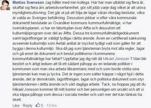Bygglovshandläggare Mattias Svensson tycker till.